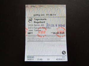 Berlin-Stettin Ticket