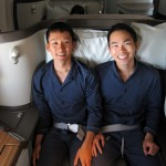 Cathay Pacific First Class Couple
