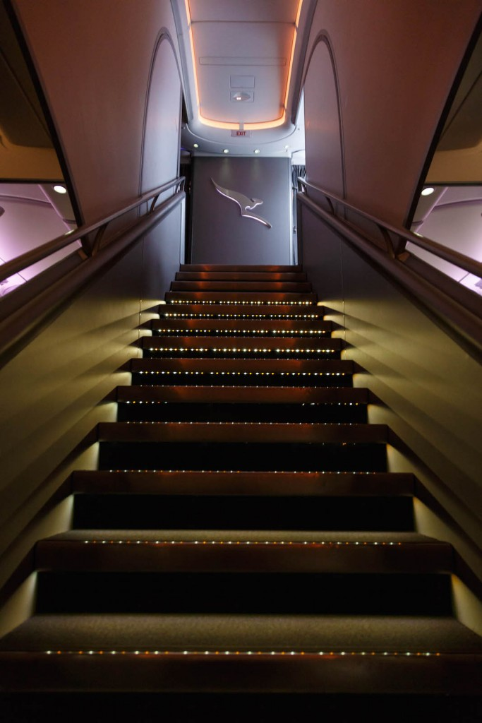 Qantas A380 First Class Stairs