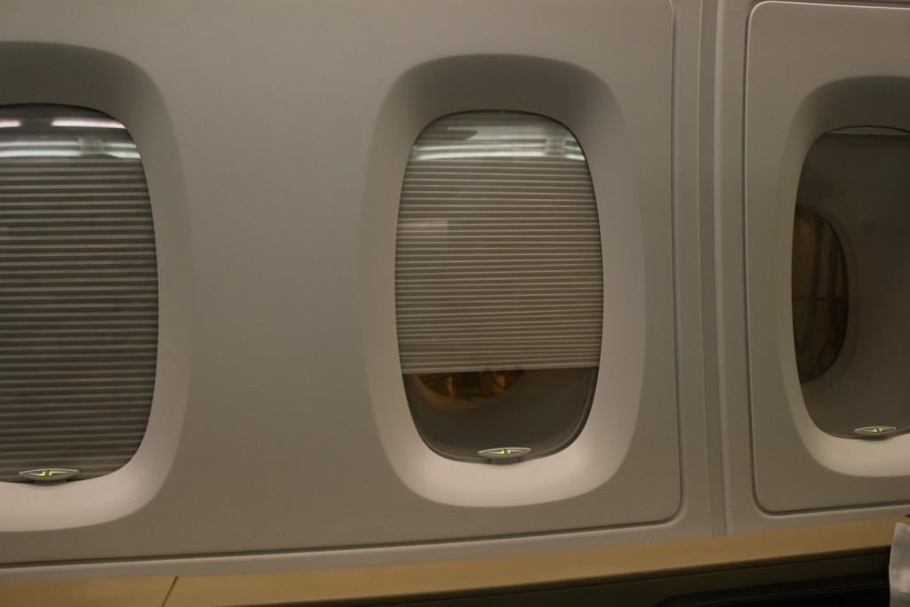 Qantas A380 First Class Window Shades