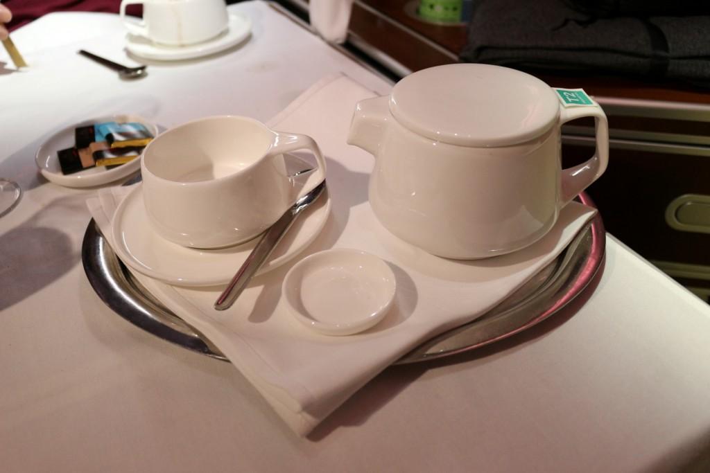 Qantas A380 First Class Tea